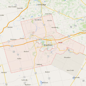 Brant County Map